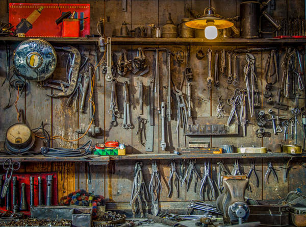 Vice Photograph - Vintage Tools Workshop by Mr Doomits