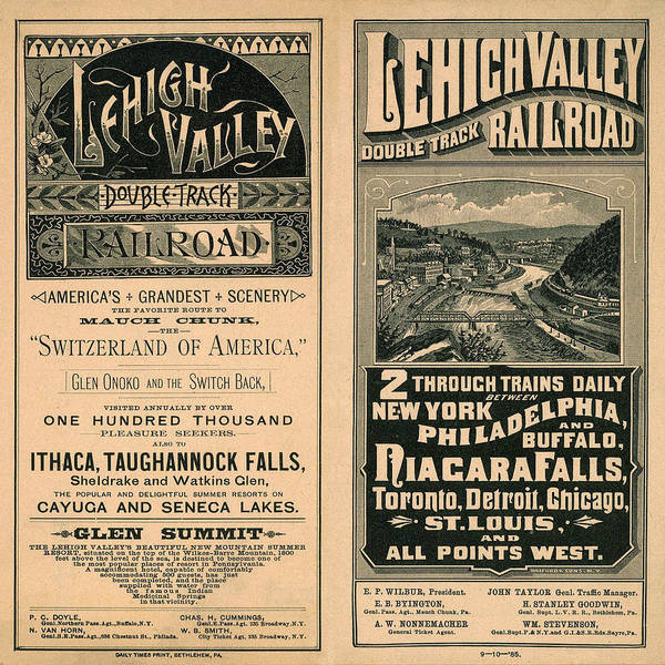 Photograph - Vintage Train Ad 1885 by Andrew Fare
