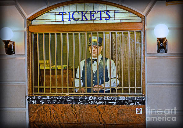 Photograph - Vintage Train Ticket Booth by Gary Keesler
