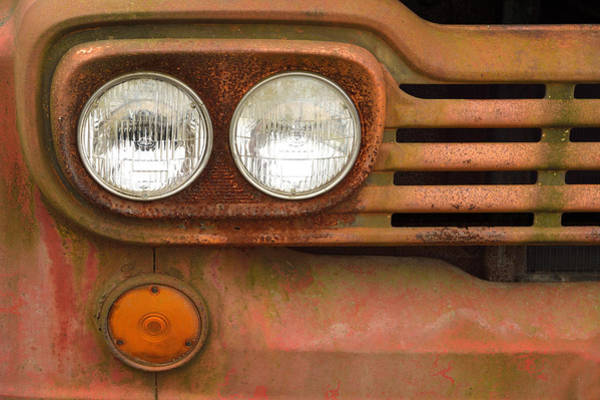 Wall Art - Photograph - Vintage Truck Lights by William Jobes