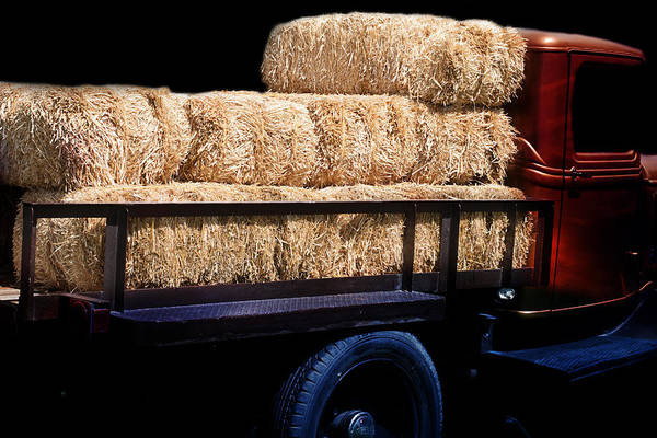 Photograph - Vintage Truck With Load by Gunter Nezhoda
