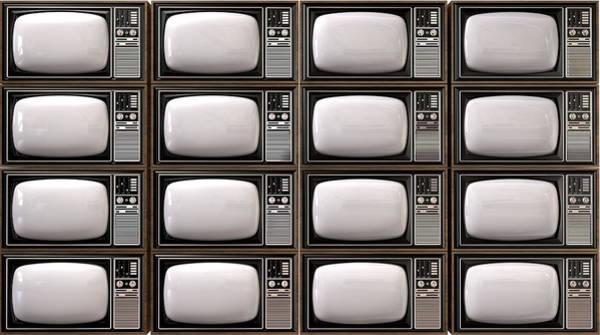 Television Digital Art - Vintage Tv Stack by Allan Swart