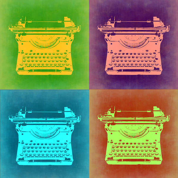 Wall Art - Painting - Vintage Typewriter Pop Art 1 by Naxart Studio