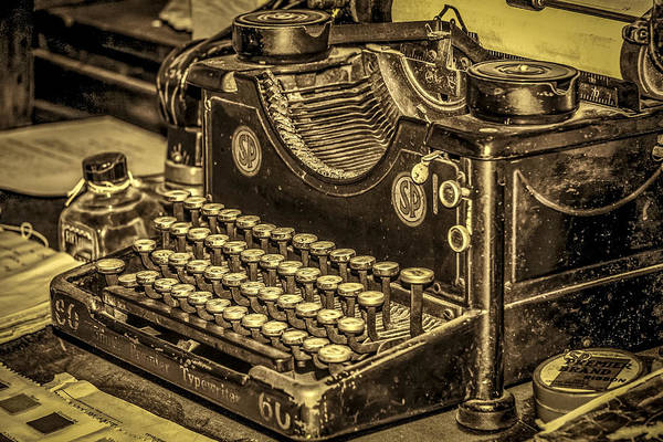 Photograph - Vintage Typewriter by Susan Leonard