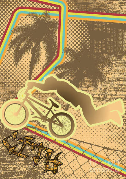 Ride Digital Art - Vintage Urban Grunge Background Design by Shockydesign