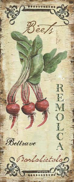 Cuisine Wall Art - Painting - Vintage Vegetables 3 by Debbie DeWitt