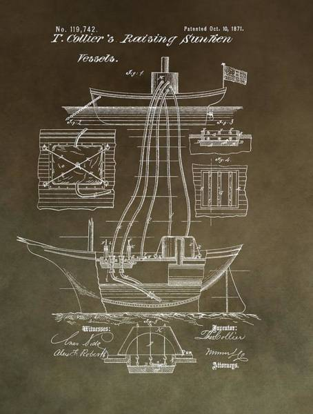 Mixed Media - Vintage Vessel Recovery Patent by Dan Sproul