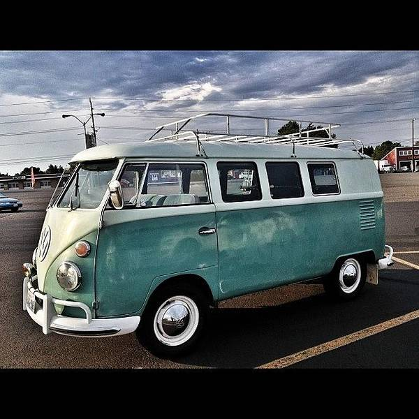 Vw Bus Wall Art - Photograph - Vintage Volkswagen Bus 2 by Couvegal Brennan