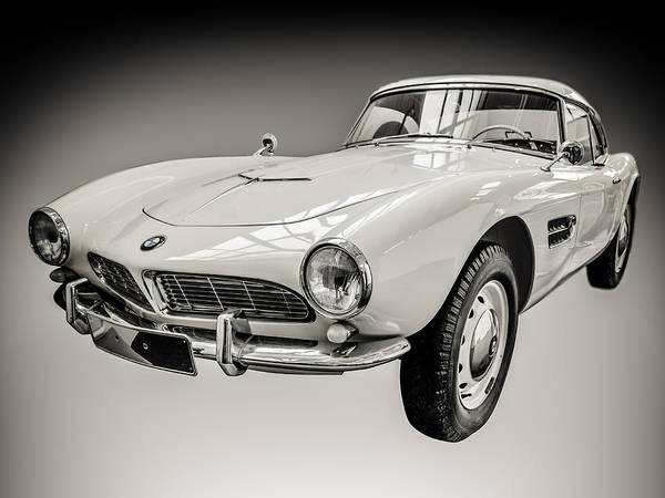 Wall Art - Photograph - Vintage White Bmw 507 by Mr Doomits