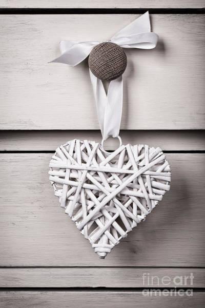 Wall Art - Photograph - Vintage Wicker Heart by Jane Rix
