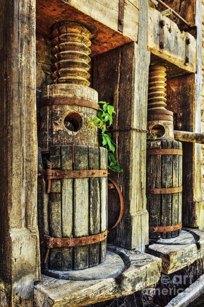 Photograph - Vintage Wine Press Hdr by James Eddy