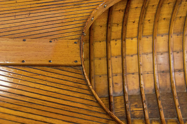 Wall Art - Photograph - Vintage Wooden Canoe Detail by Cindy Miller Hopkins