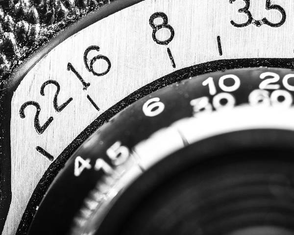 Lenses Photograph - Vintage Yashica 635 - Aperture Selector by Jon Woodhams