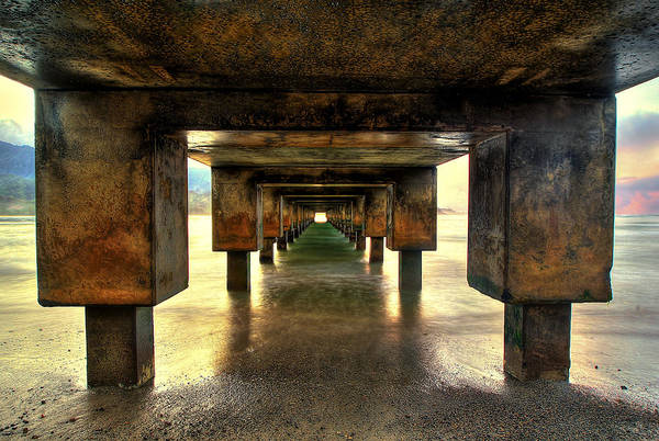 Photograph - Vintaged Hanalei Pier  by Ryan Smith