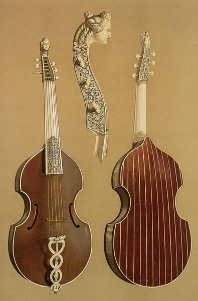 Back Drawing - Viola Da Gamba, Or Bass Viol by Alfred James Hipkins