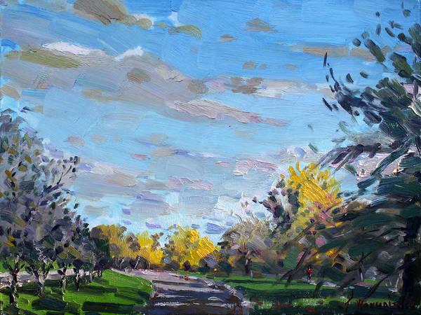 Niagara Painting - Viola Jogging by Ylli Haruni