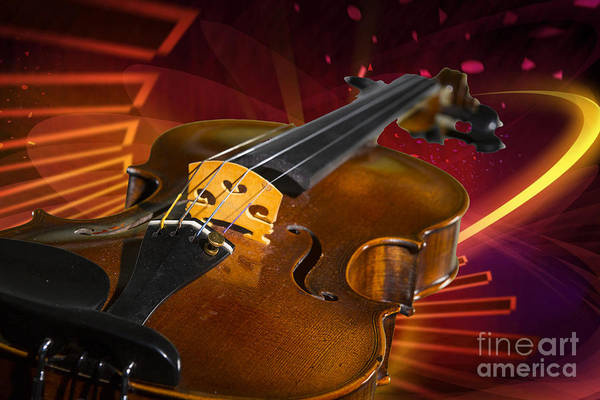 Photograph - Viola Violin On A Fantasy Background In Color 3070.02 by M K Miller