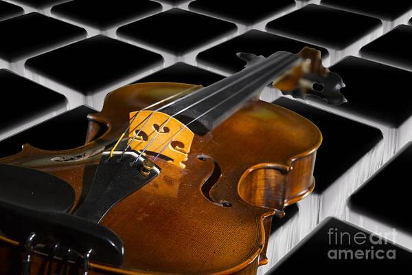 Photograph - Viola Violin On A Tile Background In Color 3069.02 by M K Miller