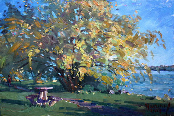 Wall Art - Painting - Viola Walking In The Park by Ylli Haruni