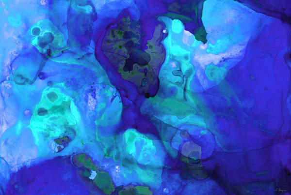 Painting - Violet Blue - Abstract Art By Sharon Cummings by Sharon Cummings
