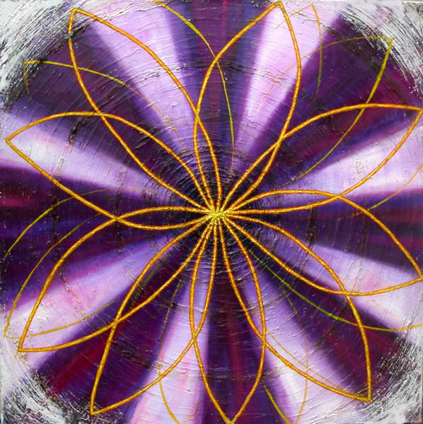 Painting - Violet Chakra by Anne Cameron Cutri