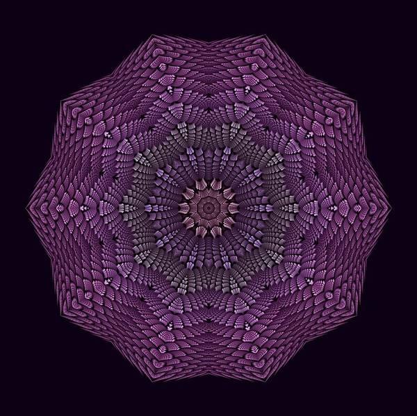 Digital Art - Violet Decadahlia by Doug Morgan