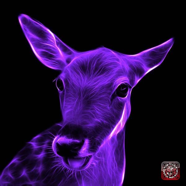Digital Art - Violet Deer - 0401 F by James Ahn