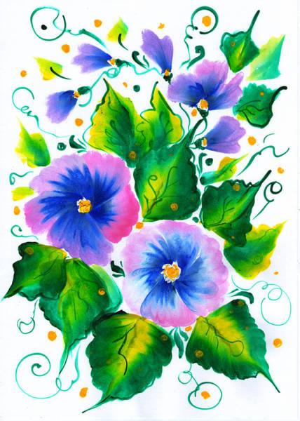 Painting - Violet Flowers by Ekaterina Chernova