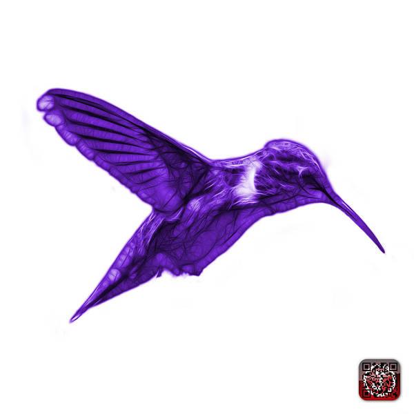 Digital Art - Violet Hummingbird - 2054 F S by James Ahn