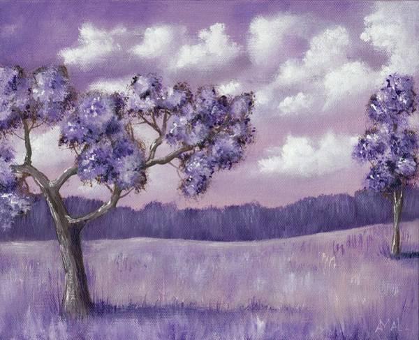 Painting - Violet Mood by Anastasiya Malakhova