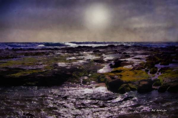 Painting - Violet Moonrise by RC DeWinter