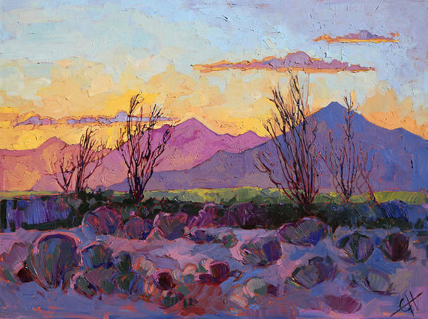 Ocotillo Wall Art - Painting - Violet Point by Erin Hanson