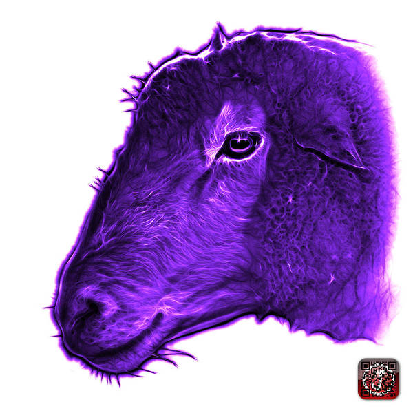 Digital Art - Violet Polled Dorset Sheep - 1643 Fs by James Ahn