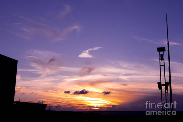 Photograph - Violet Sunset With Wispy Clouds by Beverly Claire Kaiya