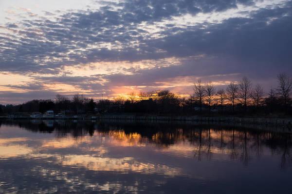 Photograph - Violet Twilight On The Lake by Georgia Mizuleva