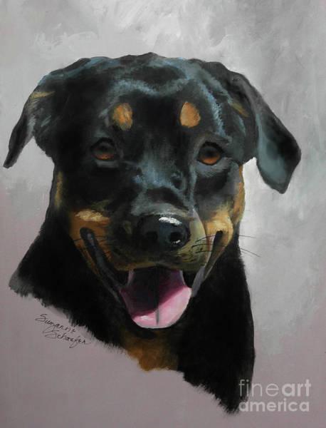 Rottweiler Painting - Violetta by Suzanne Schaefer