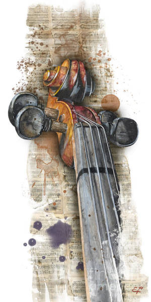 Jazz-funk Painting - Violin 01 Elena Yakubovich by Elena Yakubovich
