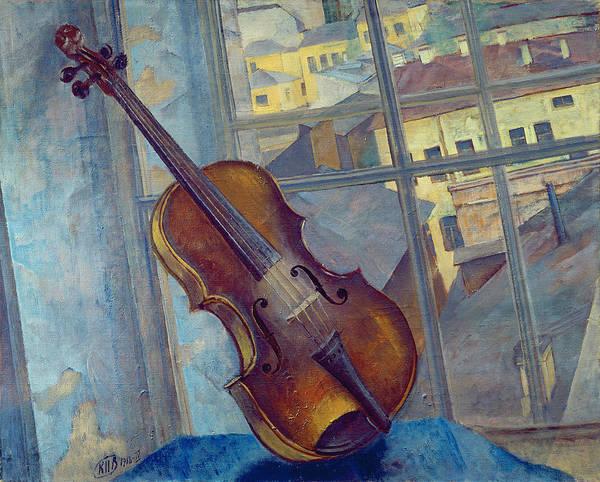 Violas Painting - Violin by Kuzma Sergeevich Petrov-Vodkin