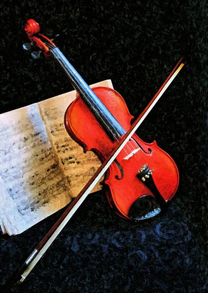 Violin Impression Redux Art Print