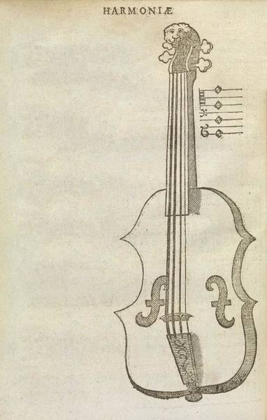 Manuscript Photograph - Violin by Middle Temple Library