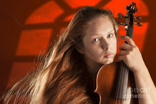 Photograph - Violin Musician Under Window by M K Miller