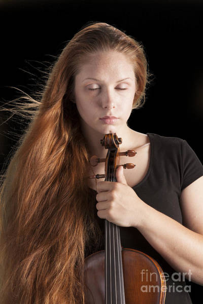 Photograph - Violin Player by M K Miller