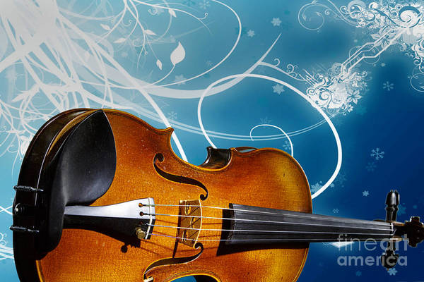 Photograph - Violin Viola In Fantasy World In Color 3066.02 by M K Miller