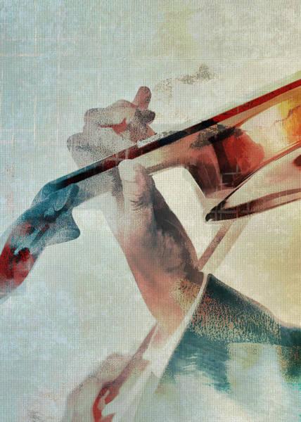 Music Instrument Digital Art - Violinist by David Ridley