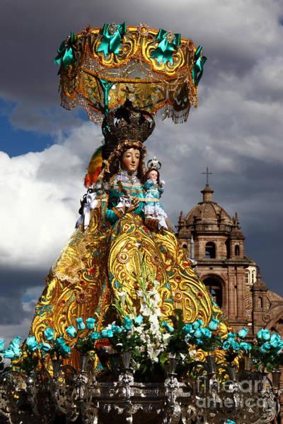 Photograph - Virgen De Belen Cusco by James Brunker