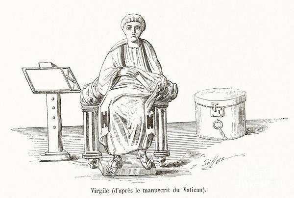 Public Speaker Photograph - Virgil, Roman Poet by Middle Temple Library