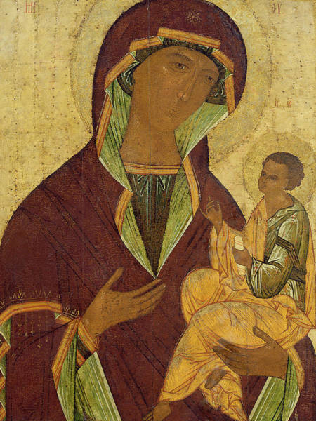 Russian Painting - Virgin And Child by Russian School