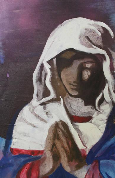 Streetart Mixed Media - Virgin Mary by Dustin Spagnola