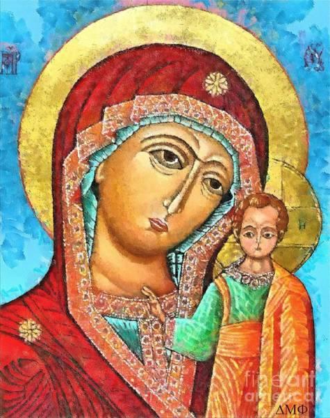 Ortodox Wall Art - Mixed Media - Virgin Of Kazan by Dragica  Micki Fortuna