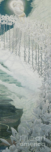 Wall Art - Painting - Virgin Of The Lilies by Carlos Schwabe